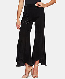 CeCe Velvet Flared Pull-On Pants