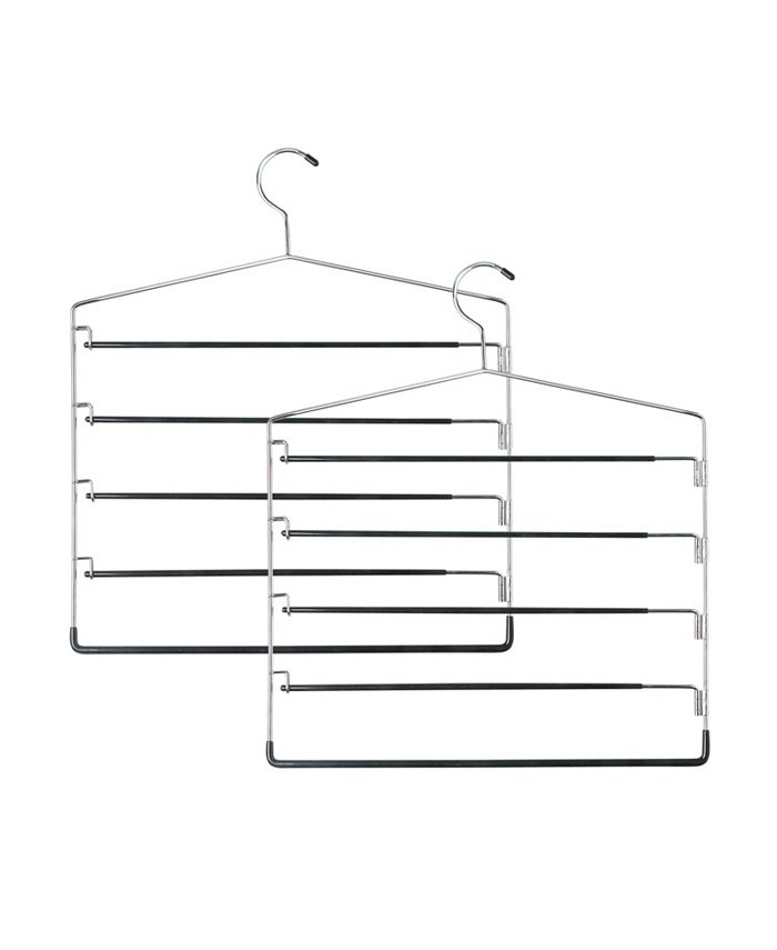 Honey Can Do - 2-Pc. 5-tier Swinging Arm Pant Rack
