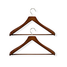 Honey Can Do 2-Pc. Deluxe Contoured Suit Hangers with Non-slip Bar