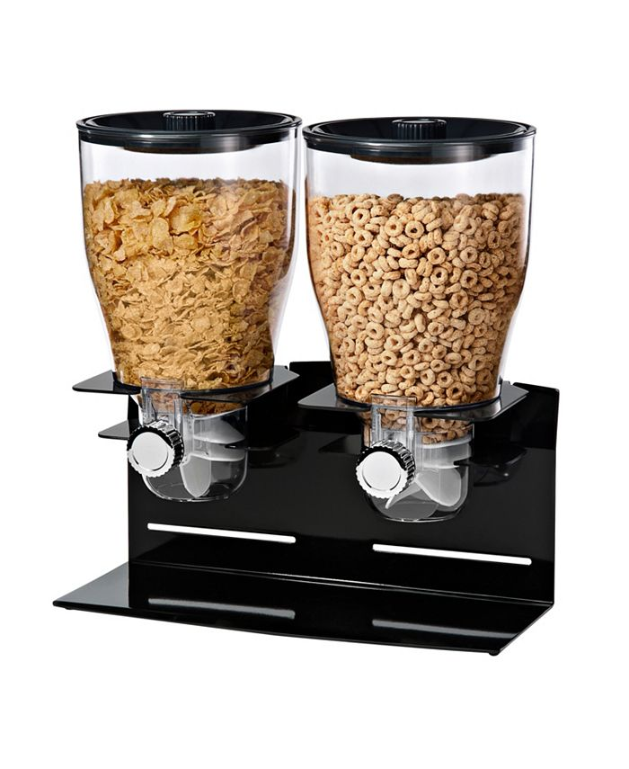 Honey Can Do - Zevro by  Designer Edition Double 17.5-Oz. Cereal Dispenser