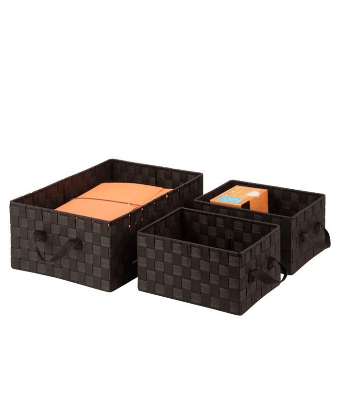 Honey Can Do - Set of 3 Nesting Baskets, Espresso