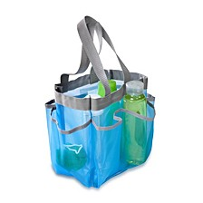 7 Pocket Shower Tote, Blue