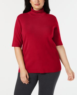 Image of Anne Klein Plus Size Turtleneck Sweater
