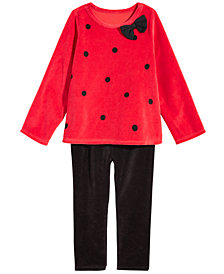 First Impressions Toddler Girls Holiday Velour Tunic & Leggings Separates, Created for Macy's