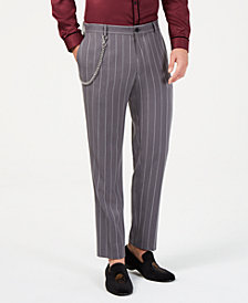 I.N.C. Men's Slim-Fit Pinstriped Chain Pants, Created for Macy's