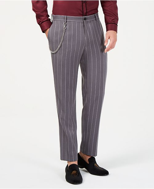 4d58fd1644 I.N.C. Men's Slim-Fit Pinstriped Chain Pants, Created for Macy's