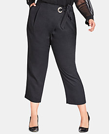 City Chic Trendy Plus Size Twister Pants