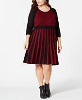 9a2e8b80dff NY Collection Plus Size Striped Sweater Dress