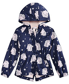 Epic Threads Big Girls Color-Changing Unicorn-Print Rain Jacket, Created for Macy's