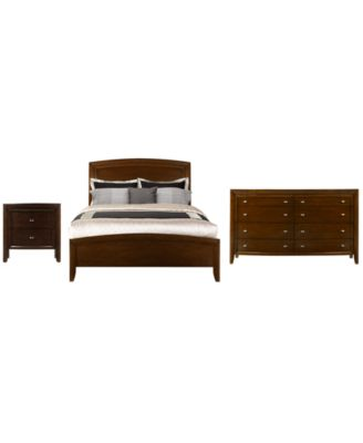 Yardley Bedroom Furniture, Full 3 Piece Set (Bed, Dresser And Nightstand)