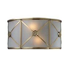 Preston 2-Light Wb In Solid Brushed Brass