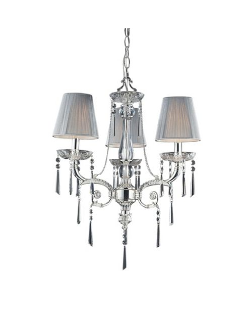 ELK Lighting D Princess Collection Polished Silver With Shades
