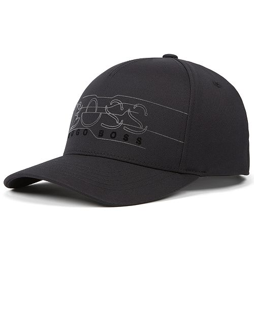 54976083 Hugo Boss BOSS Men's Double-Twill Logo Cap & Reviews - Hats, Gloves ...