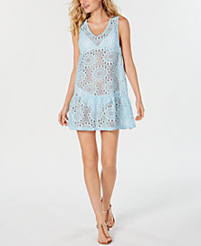 Miken Lace Drop-Waist Dress Cover-Up