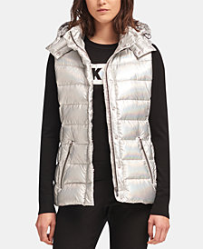 DKNY Hooded Quilted Vest, Created for Macy's