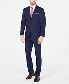 Kenneth Cole Reaction Men's Techni-Cole Slim-Fit Stretch Bright Blue Mini Grid Suit