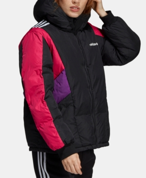 ADIDAS | Adidas Originals 90s Colorblocked Hooded Down Jacket | Goxip