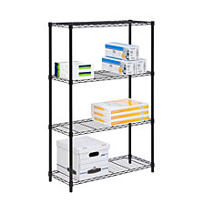 Honey Can Do 4-tier Shelving Unit, Black