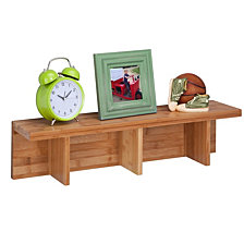 Honey Can Do Large Sectioned Wall Shelf, Bamboo