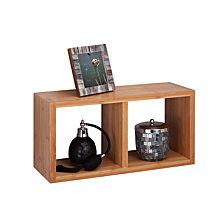 Honey Can Do Bamboo Double Cube Wall Shelf