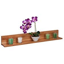 Honey Can Do Bamboo L Shaped Wall Shelf