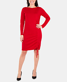 NY Collection Drawstring Sweater Dress