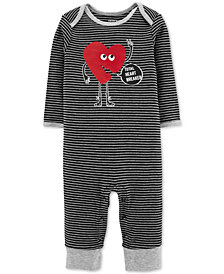 Carter's Baby Boys Striped Heartbreaker Cotton Jumpsuit