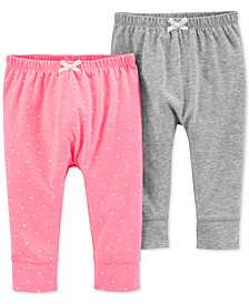 Carter's Baby Girls 2-Pk. Cuffed-Hem Pants