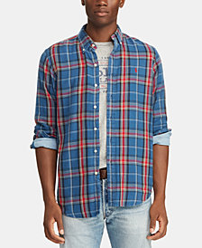 Polo Ralph Lauren Men's Great Outdoors Classic Fit Double-Faced  Shirt