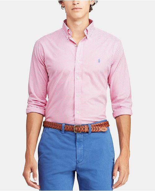 c7f2efc6 Polo Ralph Lauren Men's Slim Fit Patterned Poplin Shirt & Reviews ...