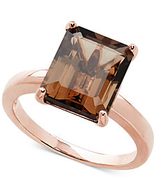 Smoky Quartz Solitaire Ring (4-1/6 ct. t.w.) in 14k Rose Gold