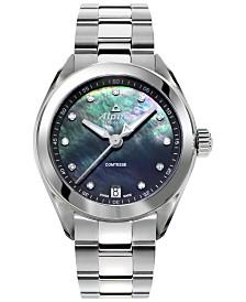 Alpina Women's Swiss Comtesse Diamond-Accent Stainless Steel Bracelet Watch 34mm