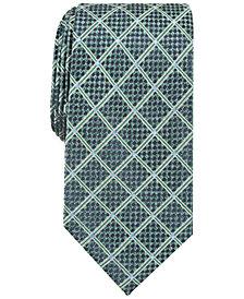 Perry Ellis Men's Edale Grid Silk Tie