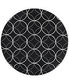 Surya Cosmopolitan COS-8872 Black 8' Round Area Rug