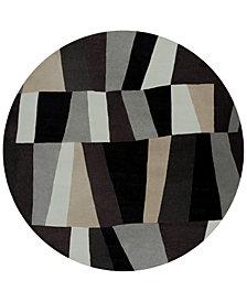 Surya Cosmopolitan COS-9188 Charcoal 8' Round Area Rug