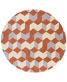 Surya Cosmopolitan COS-9299 Burnt Orange 8' Round Area Rug