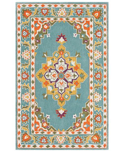 Surya Cosmopolitan COS-9308 Teal 5' x 8' Area Rug