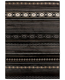 "Surya Paramount PAR-1047 Black 8'10"" x 12'9"" Area Rug"