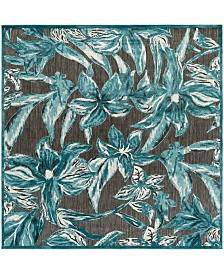 "CLOSEOUT! Surya  Portera PRT-1072 Teal 7'6"" Square Area Rug, Indoor/Outdoor"