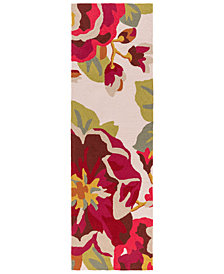 "Surya Rain RAI-1230 Dark Red 2'6"" x 8' Runner Area Rug"