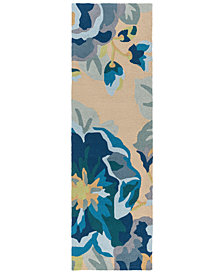 "Surya Rain RAI-1231 Bright Blue 2'6"" x 8' Runner Area Rug"