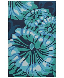 CLOSEOUT! Surya  Rain RAI-1263 Emerald 2' x 3' Area Rug, Indoor/Outdoor