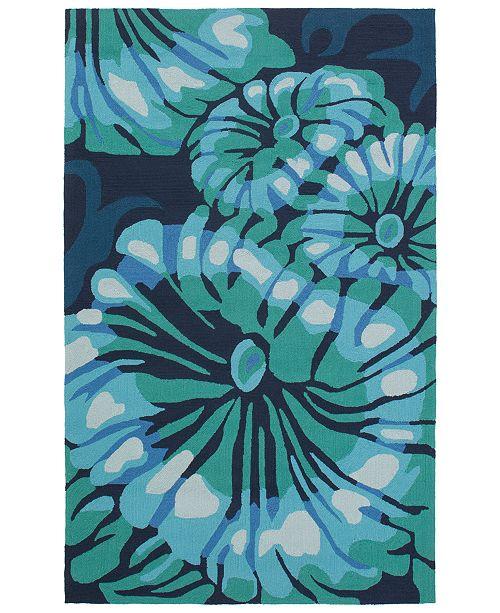Surya CLOSEOUT!  Rain RAI-1263 Emerald 5' x 8' Area Rug, Indoor/Outdoor