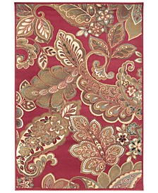 Riley RLY-5020 Dark Red 10' x 13' Area Rug