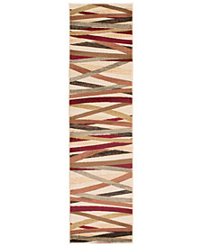 "Surya Riley RLY-5058 Burgundy 2' x 7'5"" Runner Area Rug"