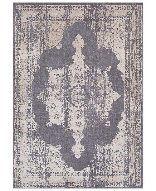 "Surya Tibetan TBT-2310 Medium Gray 6'7"" x 9'6"" Area Rug"