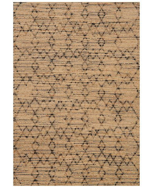 "Loloi Beacon Jute BU-01 7'9"" x 9'9"" Area Rug"