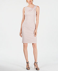 Jessica Howard Sparkle Textured Sheath Dress