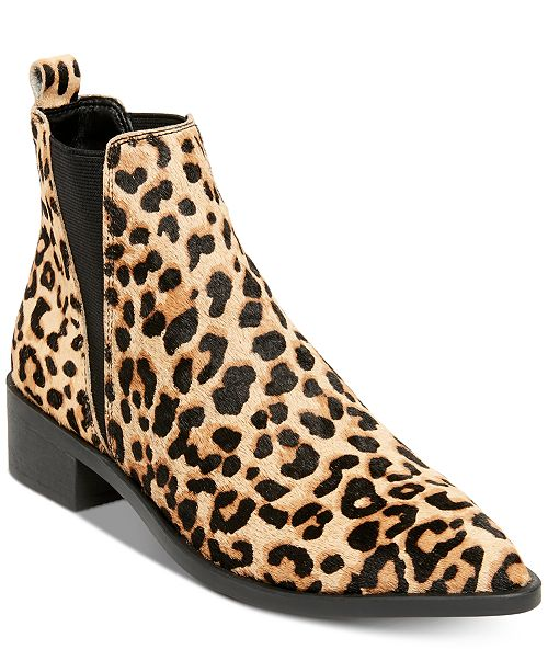 ef05f3d4ec6 Steve Madden Women s Jerry Leopard Booties   Reviews - Boots - Shoes ...