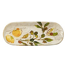 Certified International Piazette Bread Tray